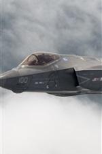 Preview iPhone wallpaper Lightning II F-35C bomber flight