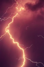 Preview iPhone wallpaper Lightning, sky, cloudy, storm