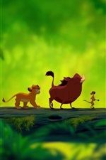 Preview iPhone wallpaper Lion King, cartoon movie