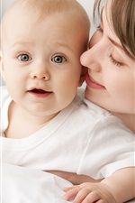 Preview iPhone wallpaper Lovely baby, mother, happy