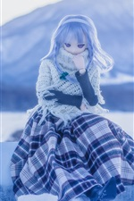 Preview iPhone wallpaper Lovely doll, girl, winter