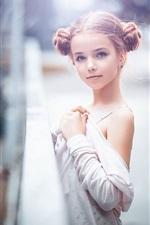 iPhone fondos de pantalla Hermosa niña, niño, cerca