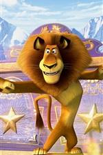 Preview iPhone wallpaper Madagascar 3, cartoon movie