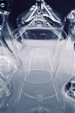 Preview iPhone wallpaper Many glass cups, transparent