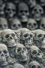 Preview iPhone wallpaper Many skulls, darkness world