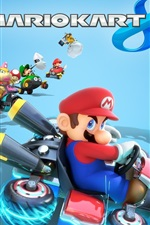 Preview iPhone wallpaper Mario Kart 8