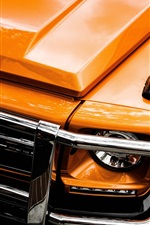 iPhone fondos de pantalla Mercedes-Benz naranja vista frontal del coche, faro