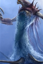 Preview iPhone wallpaper Monster, water, tentacles, claws, art picture