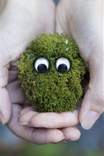 Preview iPhone wallpaper Moss face, eyes, creative, hands
