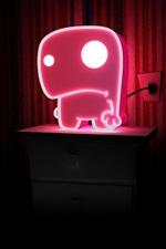 Neon light, pink, dark