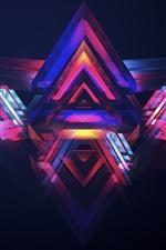 Pirâmides de néon, luz colorida
