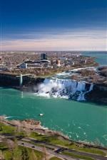 Niagara Falls, Canada, Ontario, bridge, river, city