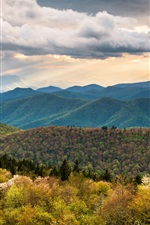 Preview iPhone wallpaper North Carolina, hills, mountains, clouds, nature landscape