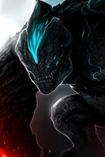 Preview iPhone wallpaper Pacific Rim, monster, art picture