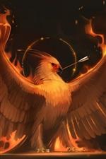 Preview iPhone wallpaper Phoenix, wings, arrow, art picture