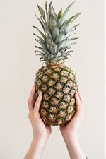 Preview iPhone wallpaper Pineapple, hands