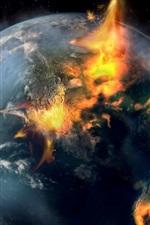 Planet, destruction, fire