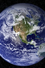 Preview iPhone wallpaper Planet earth, clouds, continents, universe