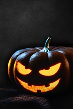 iPhone обои Тыквенный свет, Хэллоуин, темный