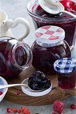 Raspberry, berries, jam