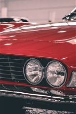 Preview iPhone wallpaper Retro red car front view, FIAT