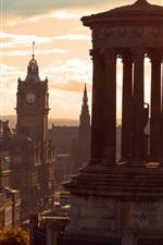 iPhone fondos de pantalla Escocia, Edimburgo, ciudad, cielo, nubes, anochecer
