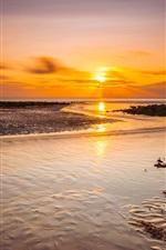 Preview iPhone wallpaper Sea, coast, sunset, nature landscape