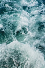 Preview iPhone wallpaper Sea, waves, water splash