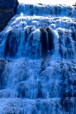 Spectacular waterfalls, from bottom view
