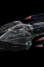 iPhone обои Starship Enterprise, Star Trek