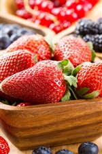 Preview iPhone wallpaper Strawberries, blueberries, blackberries, fresh fruit
