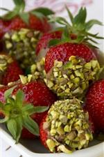 Preview iPhone wallpaper Strawberry, berries, dessert, fruit