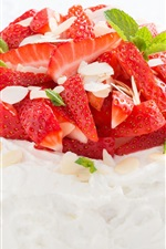 Preview iPhone wallpaper Strawberry cake, dessert, delicious