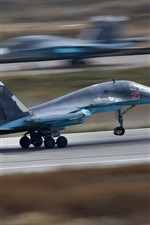 Su-34 bomber take off, speed