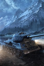 T-34-85 tanques à noite, World Of Tanks