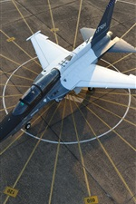 T-50A plane top view, airport, Lockheed Martin