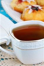 Chá, bolo, café da manhã