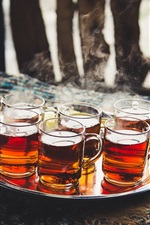 Preview iPhone wallpaper Tea, cups, drinks