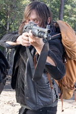 Preview iPhone wallpaper The Walking Dead, two girls, weapons