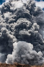 Preview iPhone wallpaper Tornado, atmospheric whirlwind, cumulonimbus cloud, nature landscape