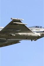 Preview iPhone wallpaper Typhoon Eurofighter, fighter flight, blue sky