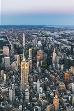 Preview iPhone wallpaper USA, New York, city, panorama, megapolis, skyscrapers, bridge