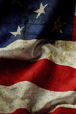 Preview iPhone wallpaper USA flag, dust