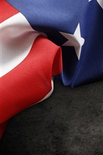 Preview iPhone wallpaper USA flag, fabric