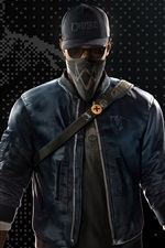 Preview iPhone wallpaper Ubisoft, Watch Dogs 2, mask
