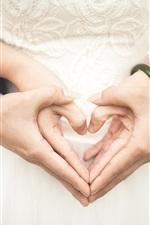 Preview iPhone wallpaper Wedding, love hearts, hands