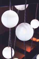 Preview iPhone wallpaper White balls lights