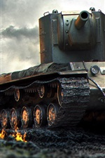 Preview iPhone wallpaper World of Tanks, USSR, ruins