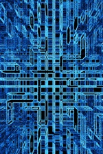 Preview iPhone wallpaper Abstract struct, blue