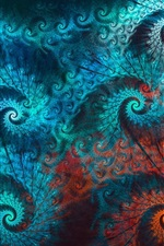 Abstraction peacock feathers